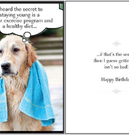 DOG SPEAK Regular Exercise Dog Birthday Card