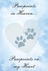 DOG SPEAK Pawprints In Heaven Greeting Card