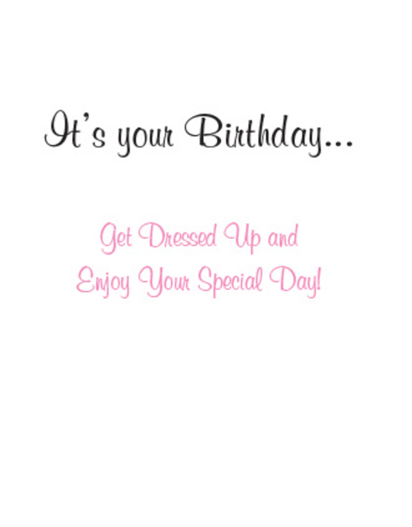 DOG SPEAK Ballerina Golden Retriever Birthday Card
