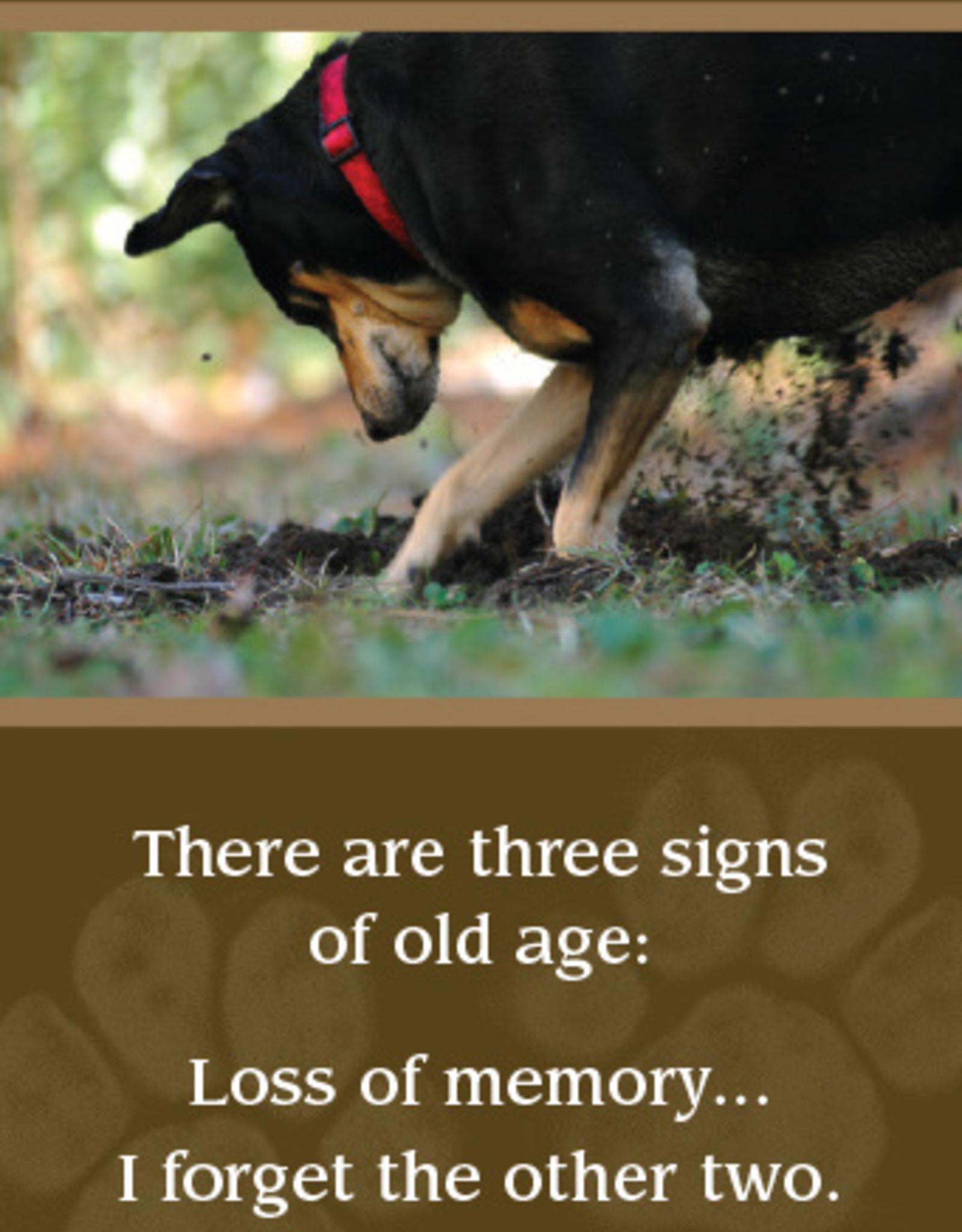 DOG SPEAK Dog Digging For Gift Birthday Card