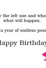 DOG SPEAK Pink Boots on Dog Birthday Card