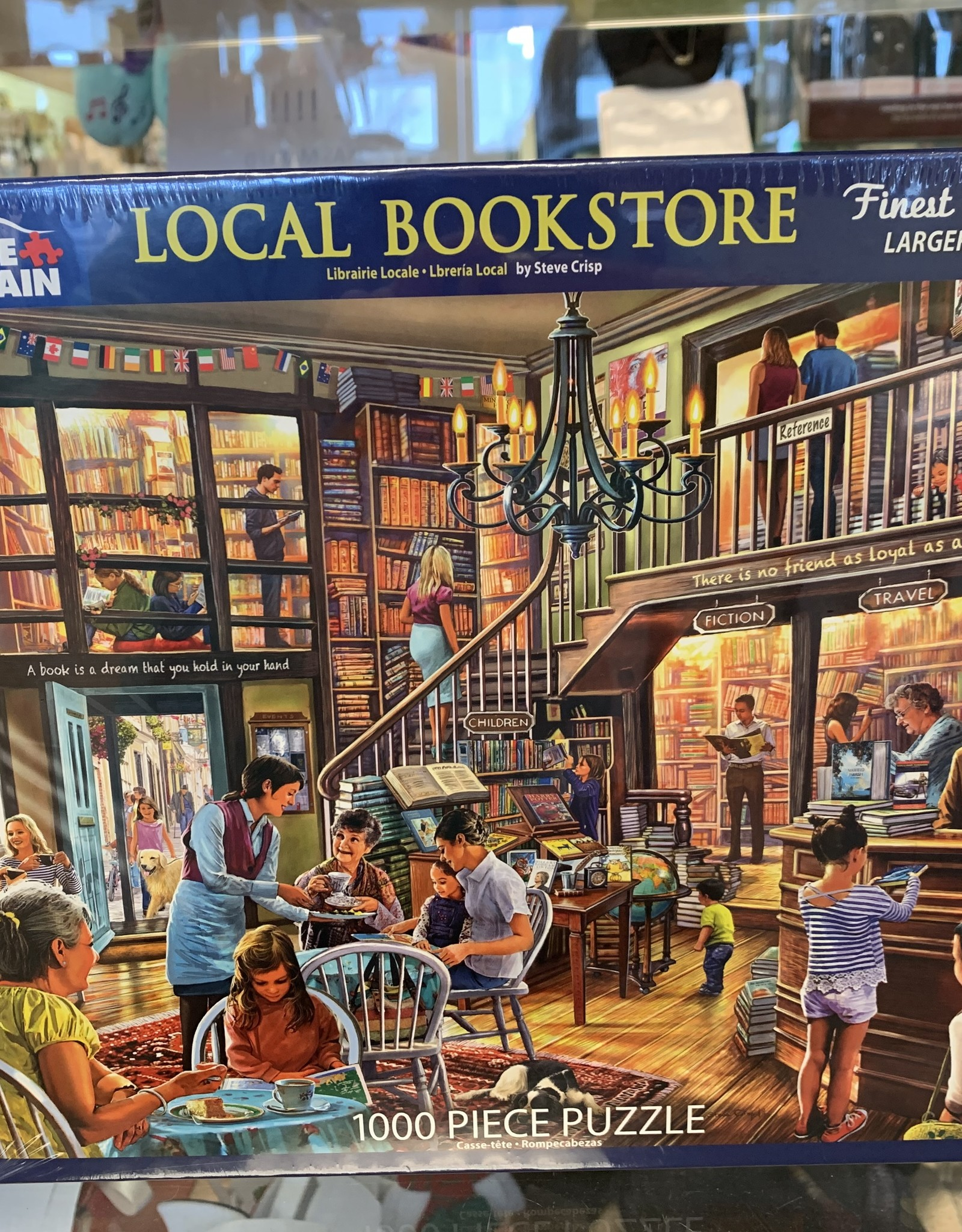 WHITE MOUNTAIN PUZZLES, INC. 1000 pc Local Book Store Puzzle
