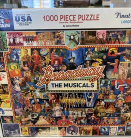 WHITE MOUNTAIN PUZZLES, INC. 1000 pc Broadway The Musicals Puzzle