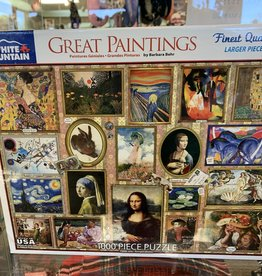 WHITE MOUNTAIN PUZZLES, INC. 1000 pc Great Paintings Puzzle