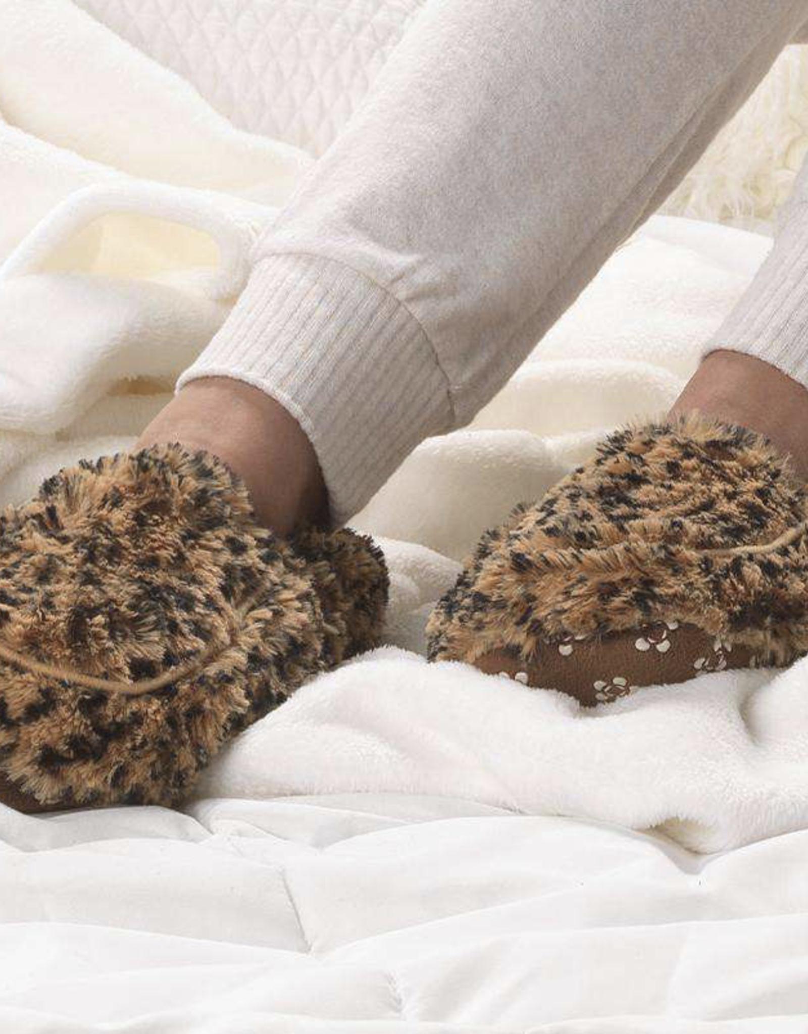 INTELEX Tawny Print Warmies Slippers