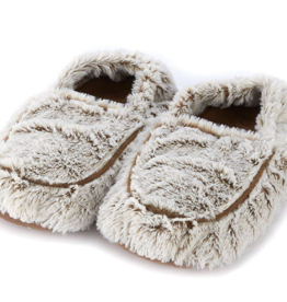 INTELEX Marshmallow Brown Warmies Slippers
