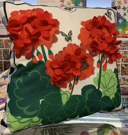 EVERGREEN ENTERPRISES, INC. Pillow with Interchangeable Cover-Geraniums