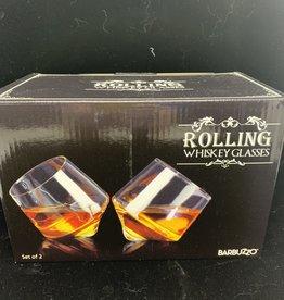 UT BRANDS Rolling Whiskey Glasses-Set of 2