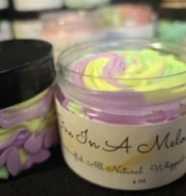 KISS AND MAKEUP NATURAL COSMETICS Whipped Body Butter-4oz One in a Melon