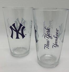 GOOD TYMES ENTERPRISES NY YANKEES GLASS PINT SET