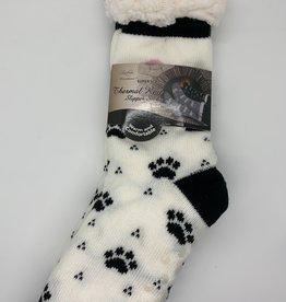 OPPORTUNITIES WHITE PUPPY THERMAL SLIPPER SOCKS