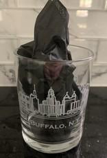 BUFFALO, NY SKYLINE ROCK GLASS