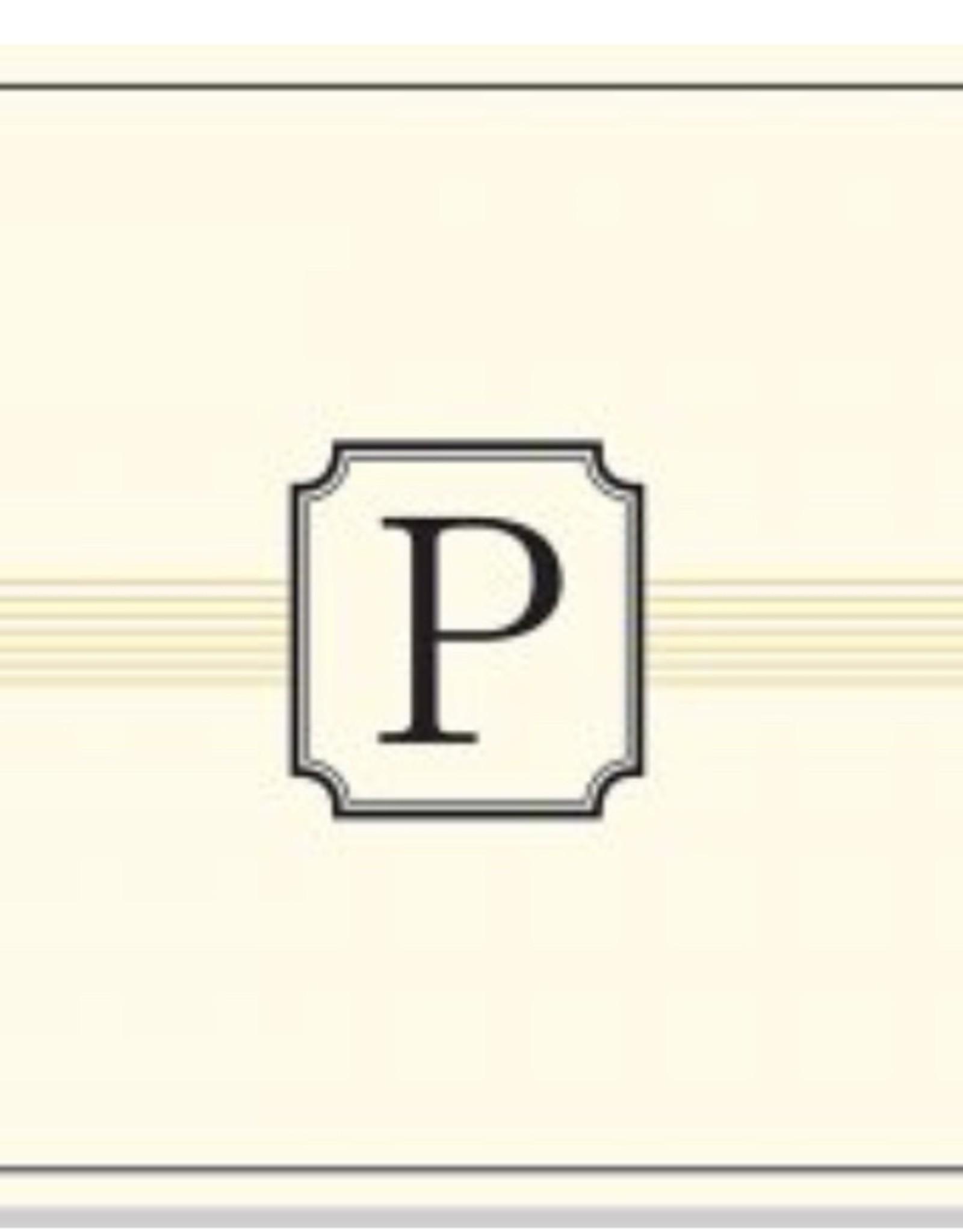 PETER PAUPER MONOGRAM INITIAL NOTECARDS L-W