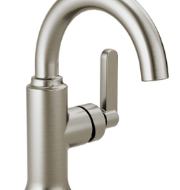 Delta DELTA ALUX SINGLE HANDLE STAINLESS LAV FAUCET