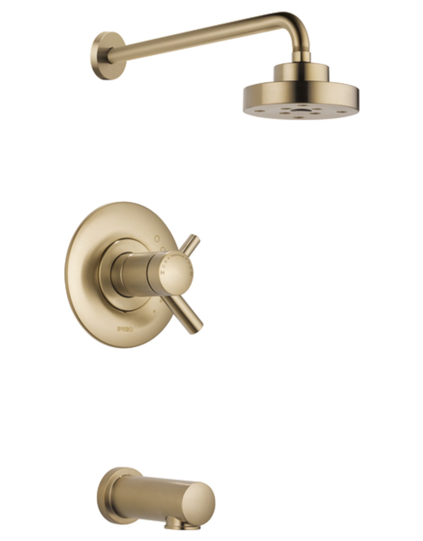 Brizo BRIZO ODIN -  LUXE GOLD TEMPASSURE THERMOSTATIC TUB/SHOWER TRIM