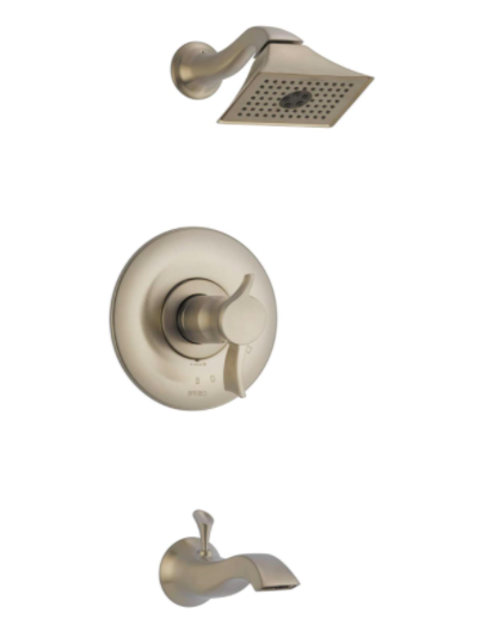 Brizo BRIZO RSVP - BRUSHED NICKEL TEMPASSURE THERMOSTATIC TUB/SHOWER TRIM