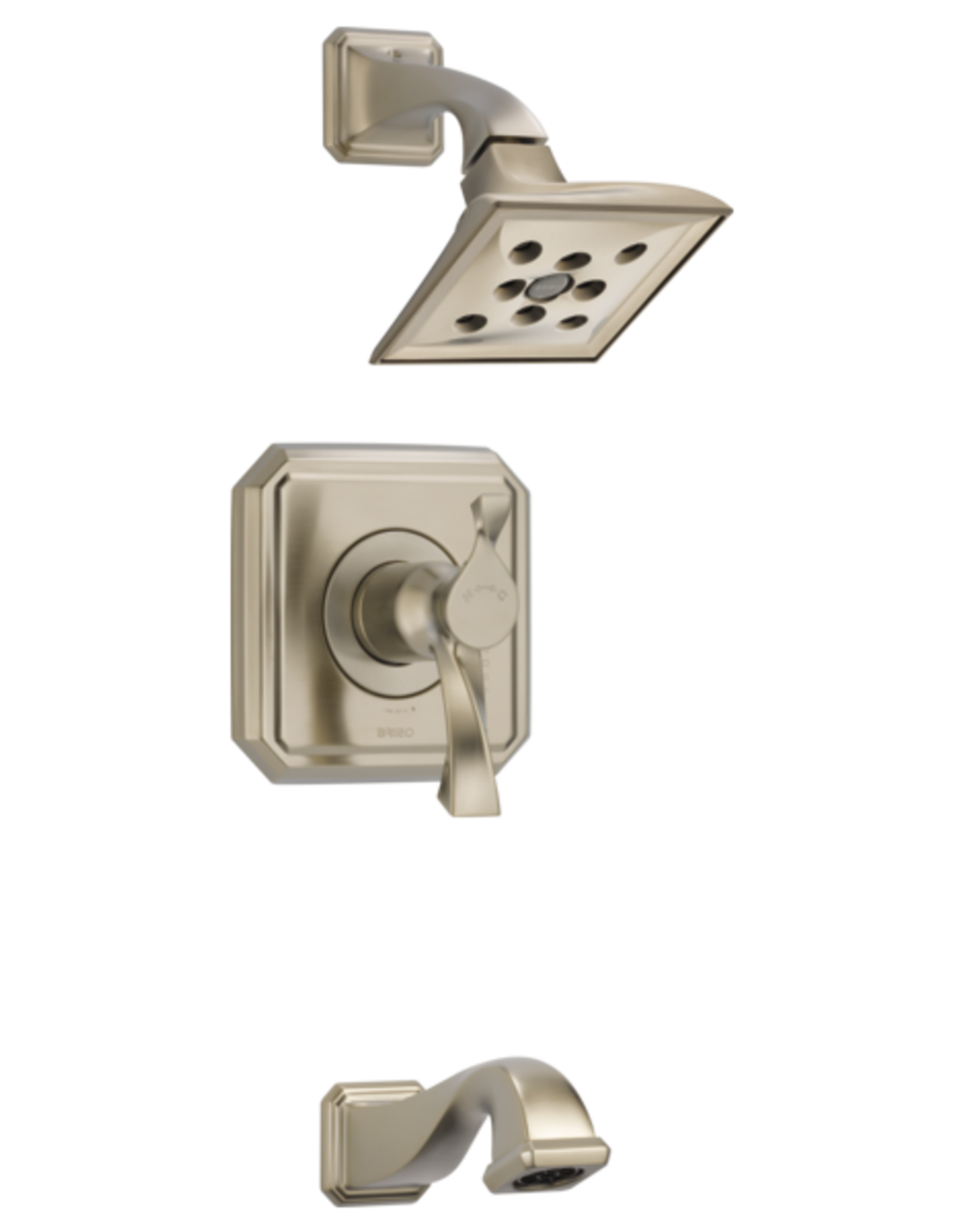 Brizo BRIZO VIRAGE - BRUSHED NICKEL TEMPASSURE THERMOSTATIC TUB/SHOWER TRIM