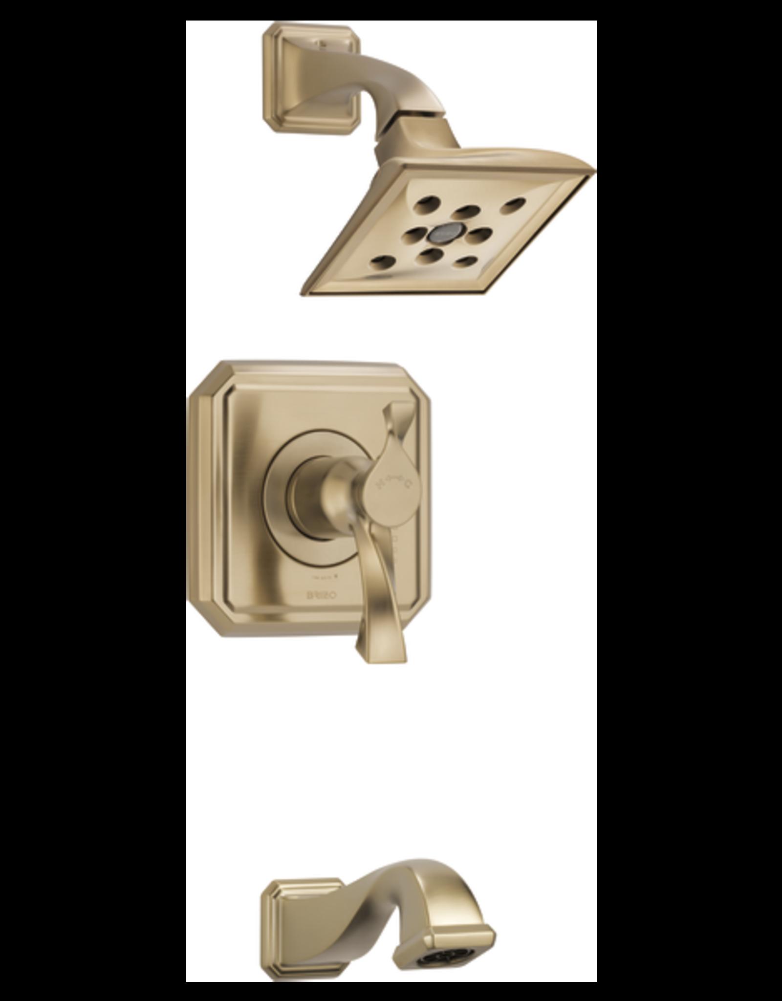 Brizo BRIZO VIRAGE - LUXE GOLD TEMPASSURE THERMOSTATIC TUB/SHOWER TRIM