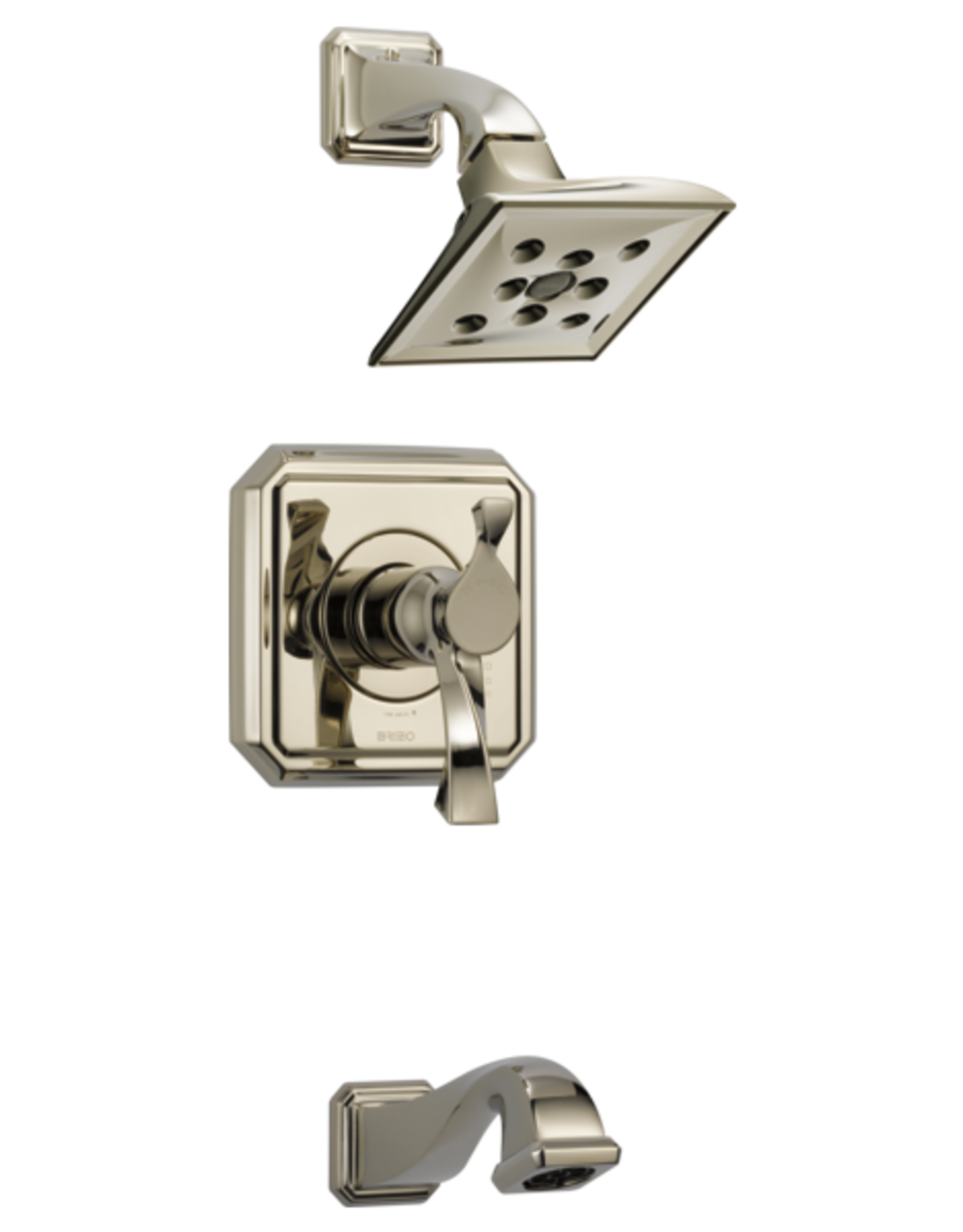 Brizo BRIZO VIRAGE - POLISHED NICKEL TEMPASSURE THERMOSTATIC TUB/SHOWER TRIM