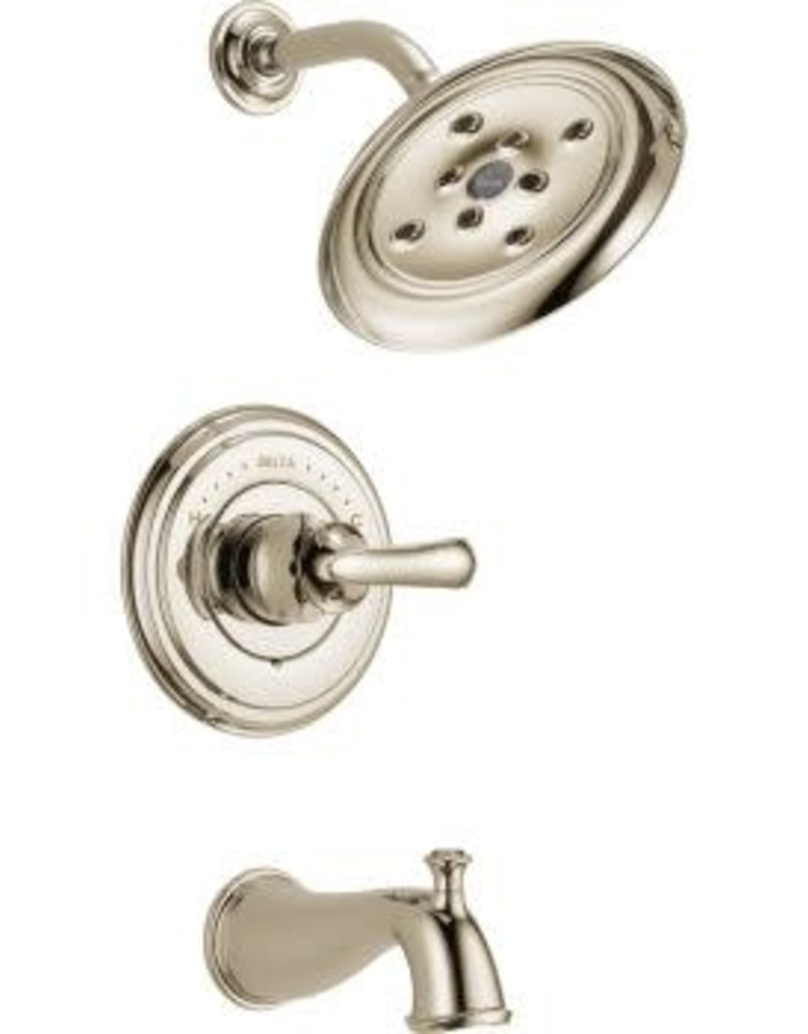 Delta DELTA CASSIDY - POLISHED NICKEL MONITOR 14 SERIES TUB & SHOWER TRIM LESS HANDLES