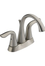 Delta DELTA LAHARA - BRILLIANCE STAINLESS TWO HANDLE CENTERSET LAVATORY FAUCET