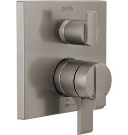 Delta DELTA VERO - BRILLIANCE STAINLESS ANGULAR MODERN VALVE TRIM 6-SETTING DIVERTER