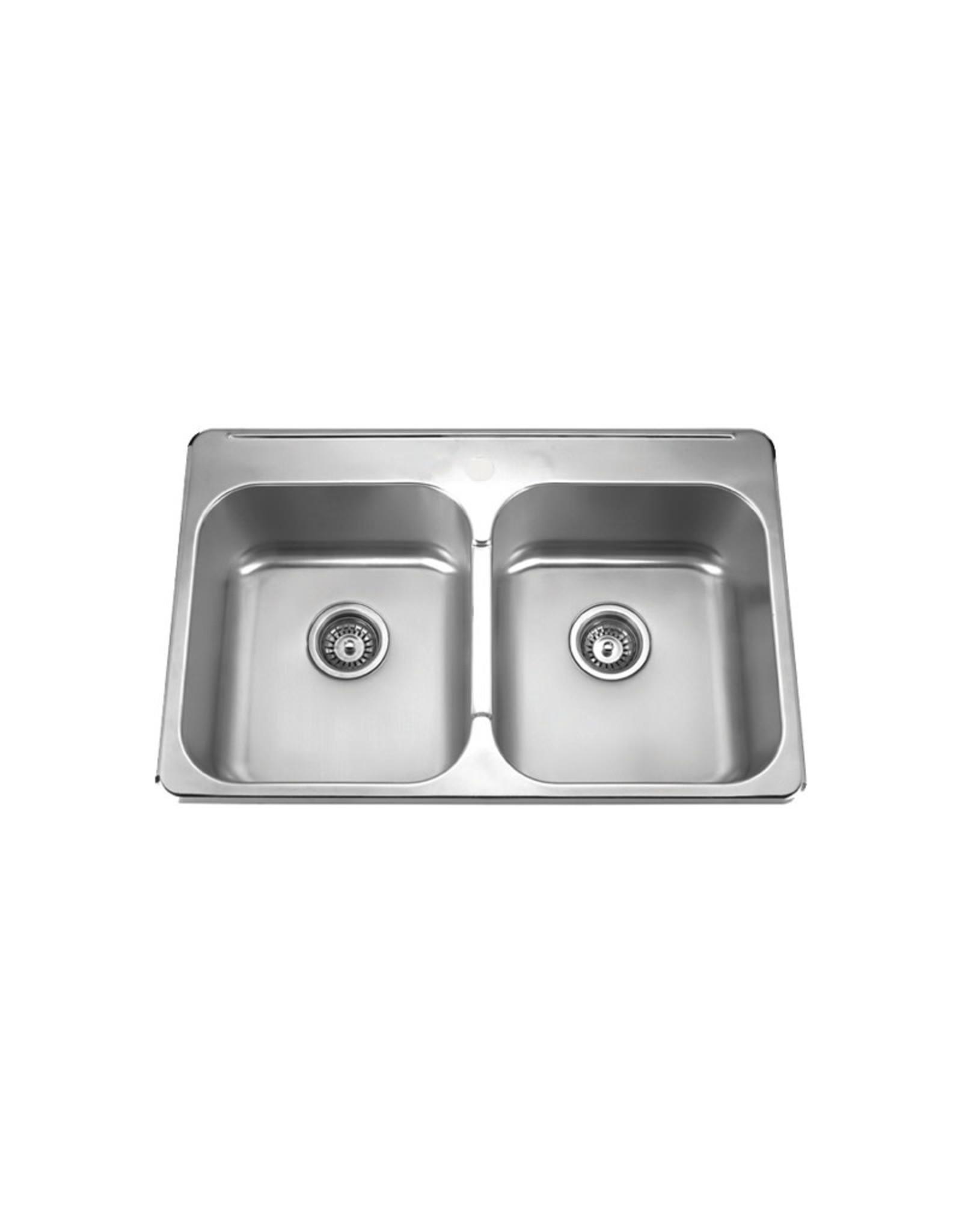 """Vogt Vogt Donau Drop-In Kitchen Sink - 31⅜"""" x 20½"""" x 8"""""""