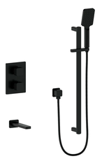 Vogt VOGT - NIVEAU MATTE BLACK 2-WAY THERMOSTATIC SHOWER KIT
