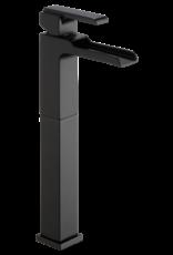 Delta Delta Ara Matte Black Vessel Faucet Open Spout