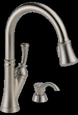 Delta Delta Savile Stainless Kitchen Faucet w Soap Dispenser