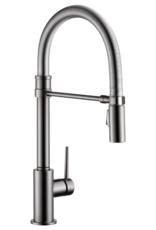 Delta Delta Trinsic Pro Collection Kitchen Faucet Black Stainless