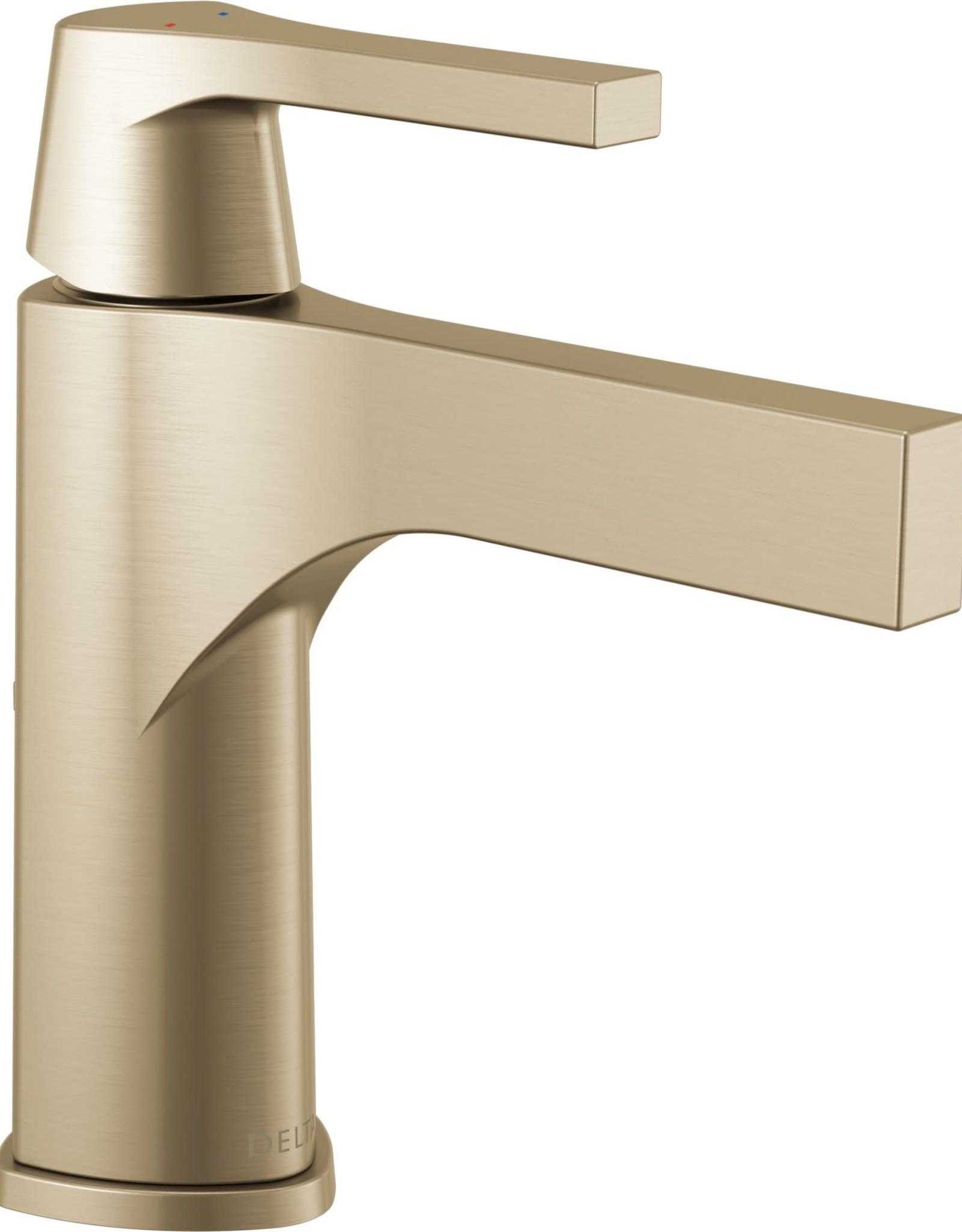 Delta Delta Zura Single Lav Faucet Champagne Bronze