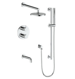 Vogt Vogt Drava 3-Way Thermostatic Shower System Chrome