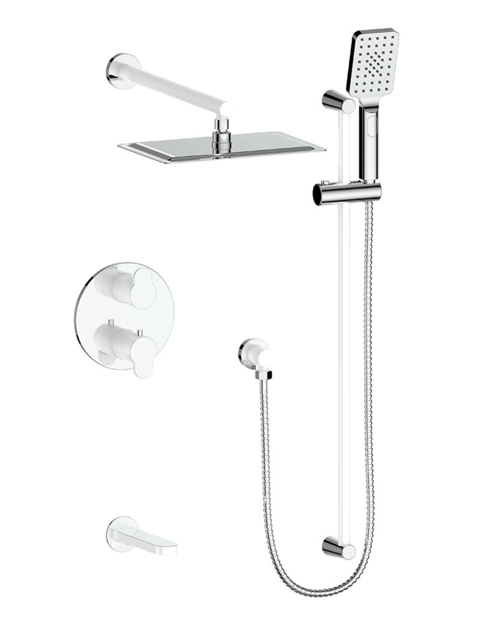 Vogt VOGT LUSTEN - CHROME 3-WAY THERMOSTATIC SHOWER KIT