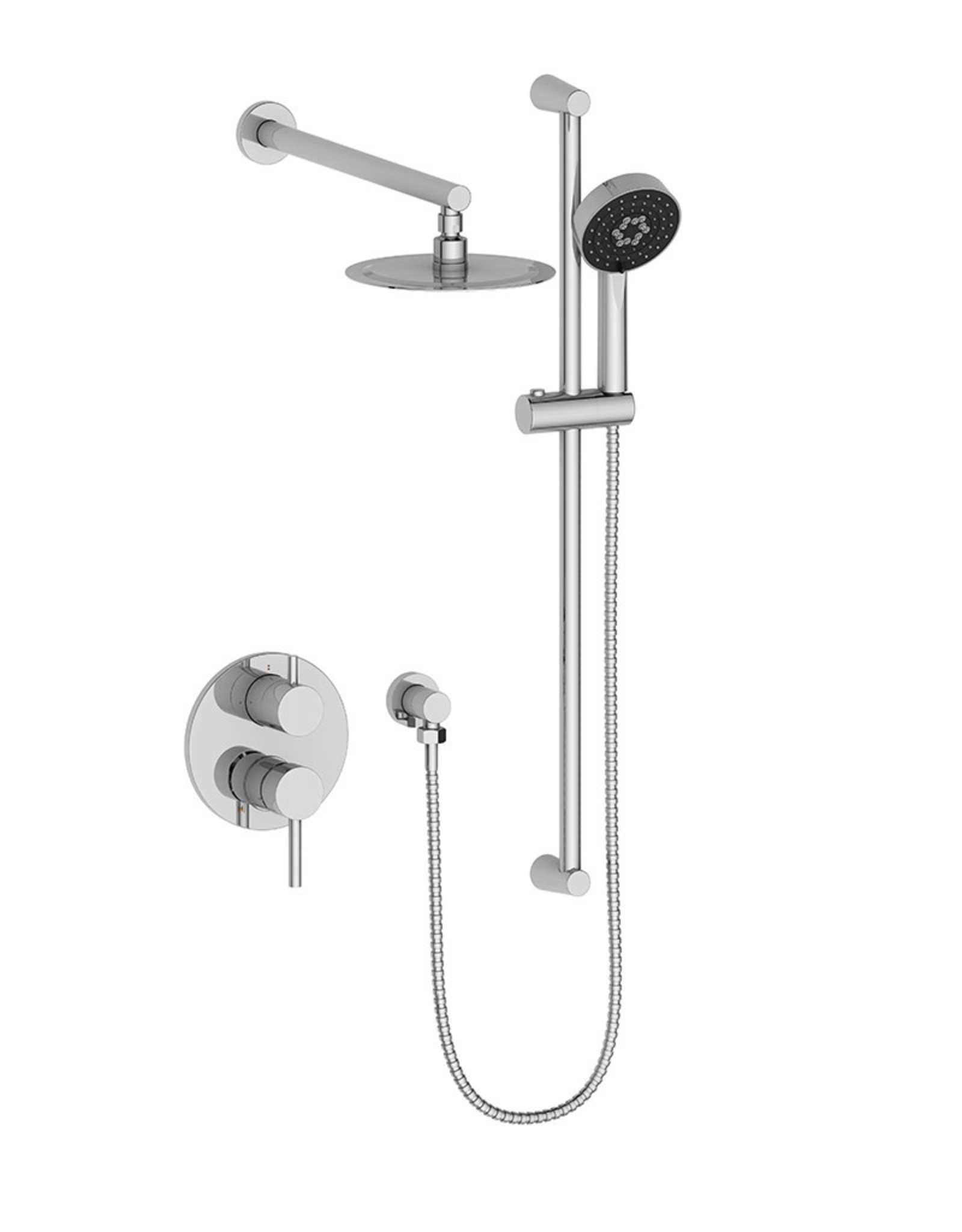 Vogt VOGT WORGL - 2-WAY PRESSURE BALANCED SHOWER KIT CHROME- NO SPOUT