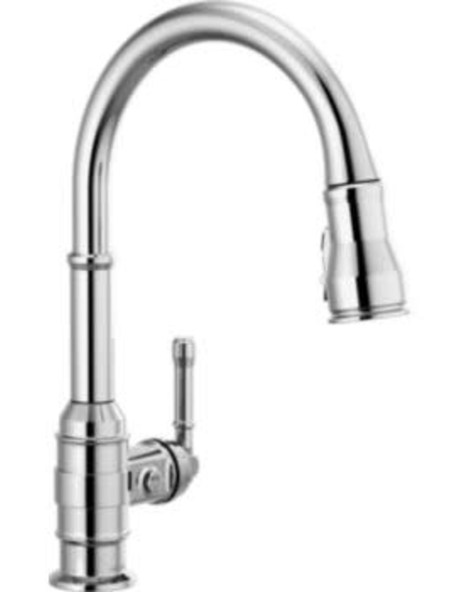 Delta Broderick Single Handle Pull-Down Kitchen Faucet- Chrome