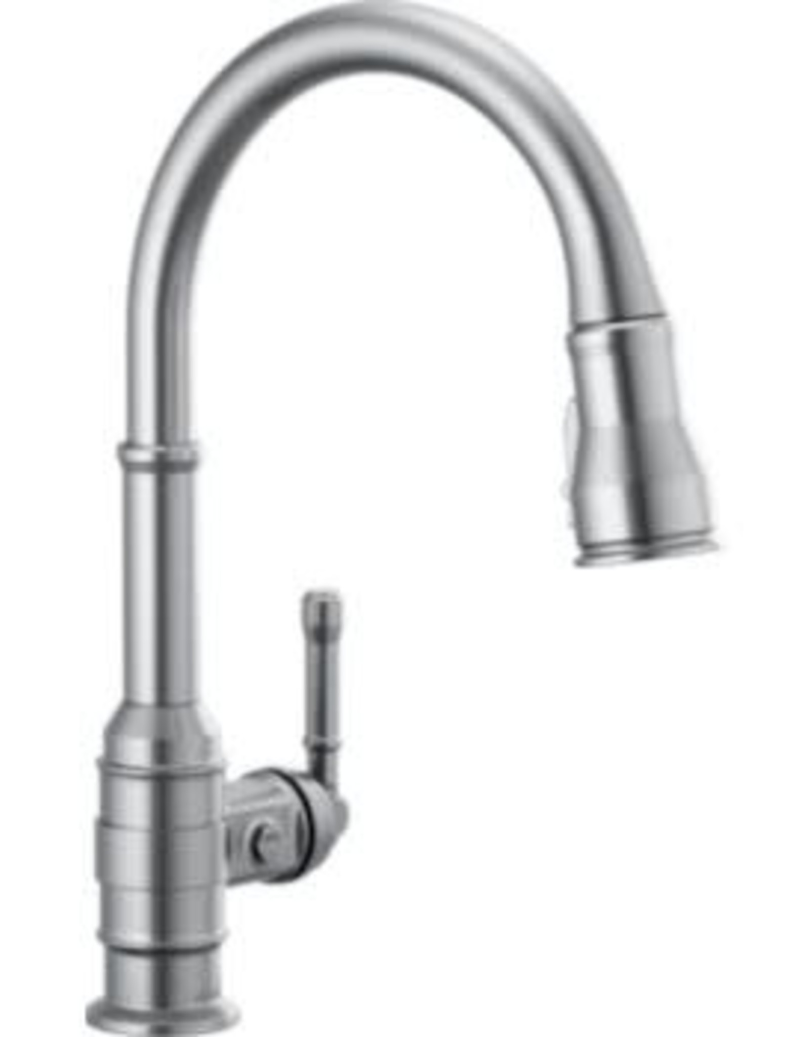 Delta Broderick Single Handle Pull-Down Kitchen Faucet- Arctic Stainless