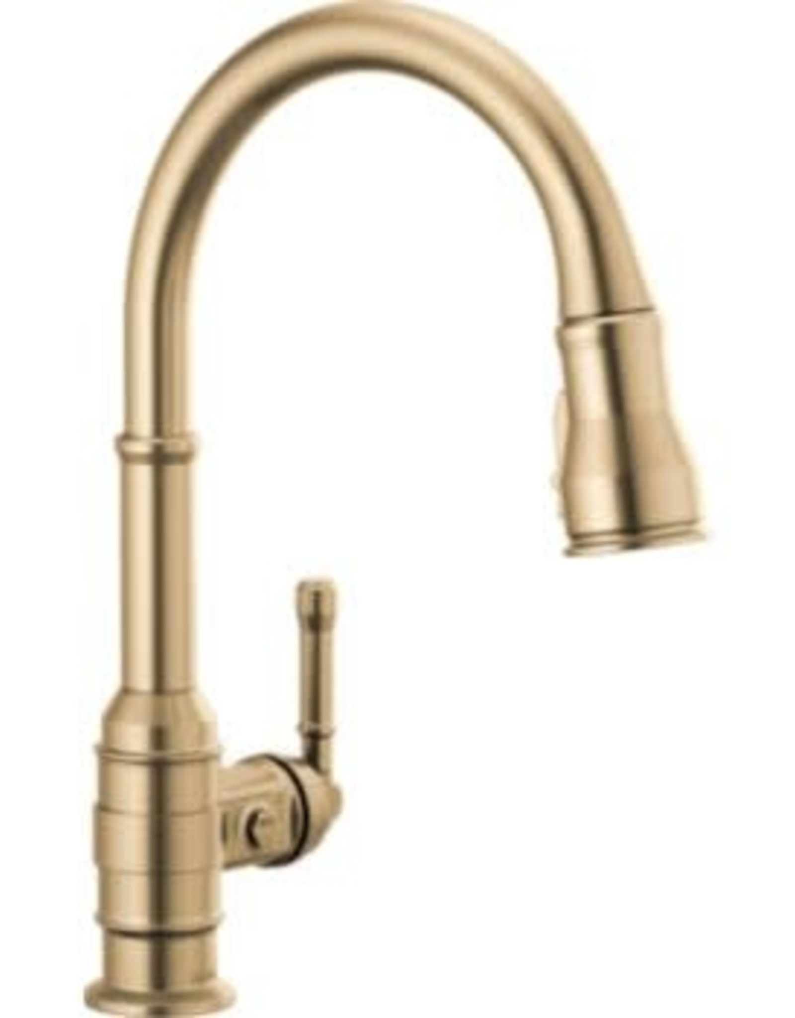 Delta Broderick Single Handle Pull-Down Kitchen Faucet- Champagne Bronze