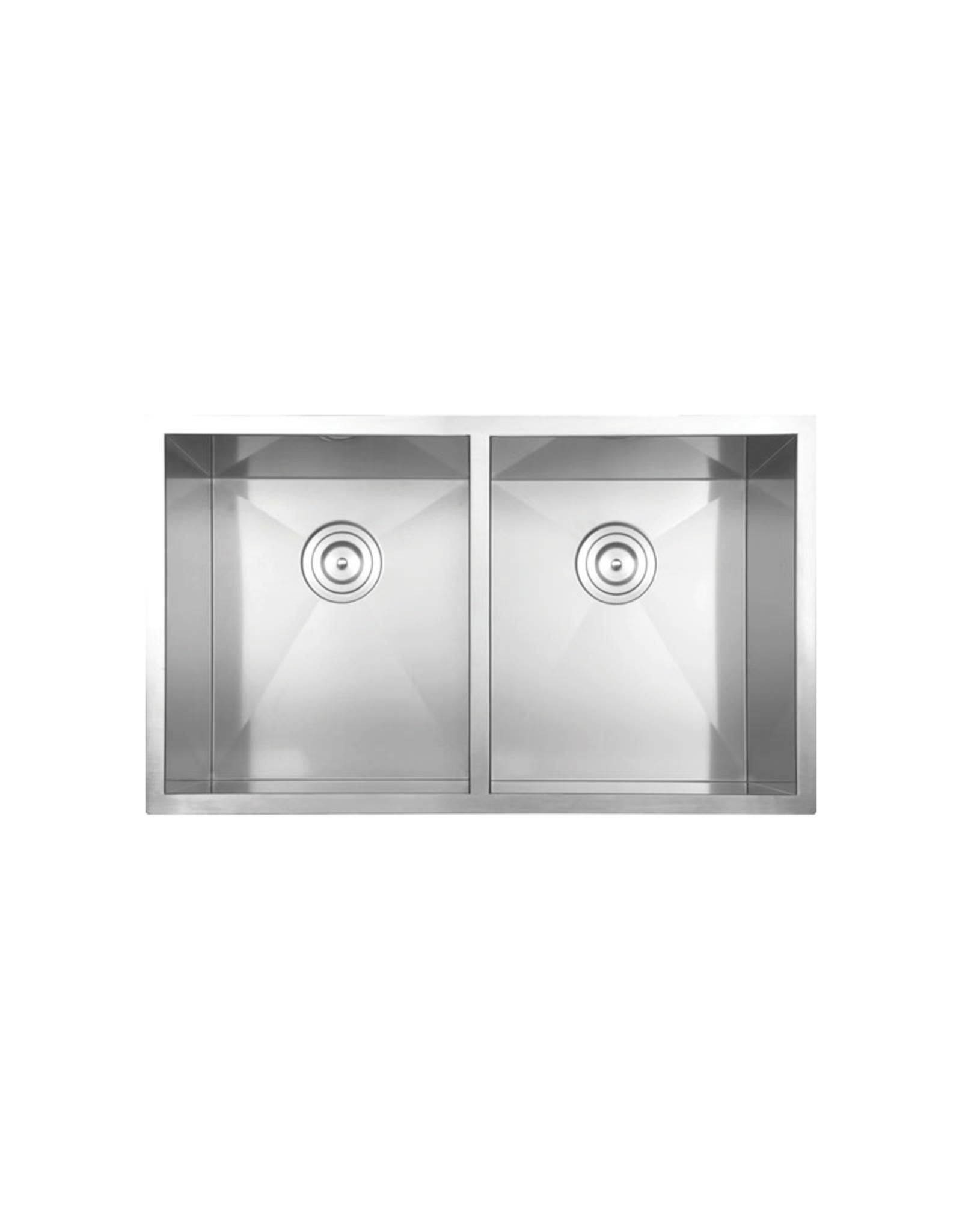 """Vogt Vogt Bludenz 16Z Undermount Kitchen Sink 32"""" x 18"""" x 10"""" With Bottom Grids"""