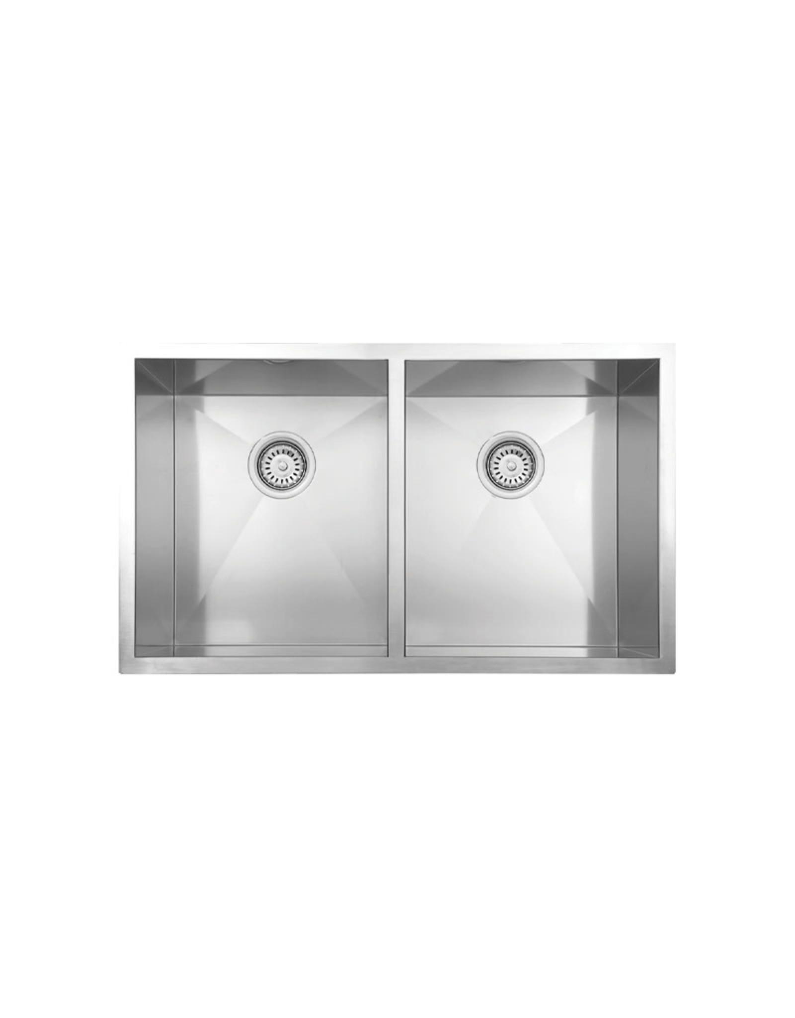 """Vogt Vogt Bludenz 18Z Undermount Kitchen Sink 32"""" x 18"""" x 10"""" With Bottom Grates"""