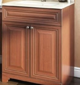 "Classic Brand Cabinetry Classic Brand Cabinetry 24"" Vanity w Quartz Top and Sink"