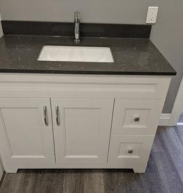 "Classic Brand Cabinetry Classic Brand Cabinetry 42"" Vanity w Quartz Top and Sink"