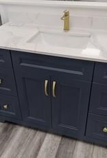"Classic Brand Cabinetry Classic Brand Cabinetry 48"" Vanity w Quartz Top and Sink"
