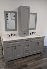 "Classic Brand Cabinetry Classic Brand Cabinetry 72"" Vanity w Quartz Top and Sink"