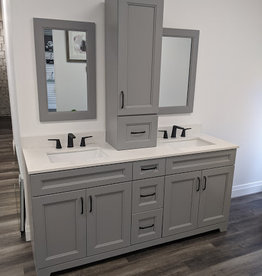 "Classic Brand Cabinetry Classic Brand Cabinetry 72"" Vanity w Quartz Top and Sink"