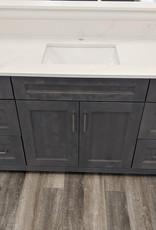 "Classic Brand Cabinetry Classic Brand Cabinetry 60"" Single Bowl Vanity w Quartz Top and Sink"