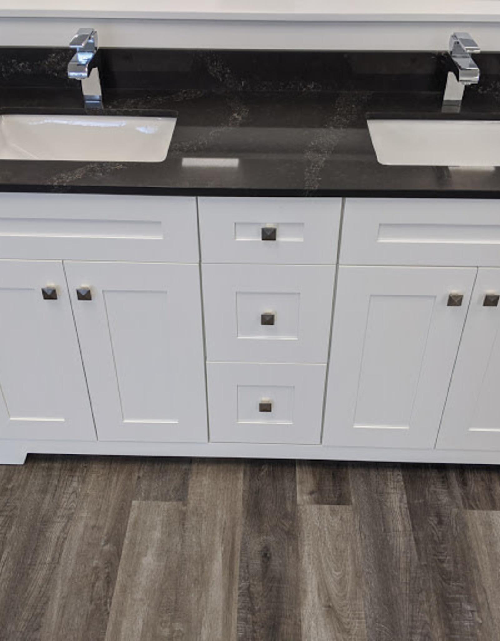 "Classic Brand Cabinetry Classic Brand Cabinetry 60"" Double Bowl Vanity w Quartz Top and Sink"