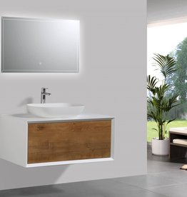 "Classic Brand Cabinetry Classic Brand Cabinetry 36"" Skandia Wallhung Vanity w Vessel Basin"