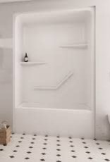 Mirolin Mirolin Hampton 1pc Tub/Shower Unit White Left Drain
