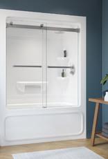 """Longevity Essentia 2060 60"""" 1pc Tub/Shower- Left Drain White"""
